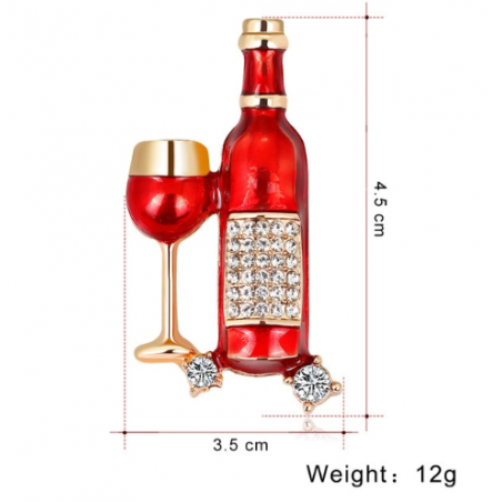 Segė vyno butelys