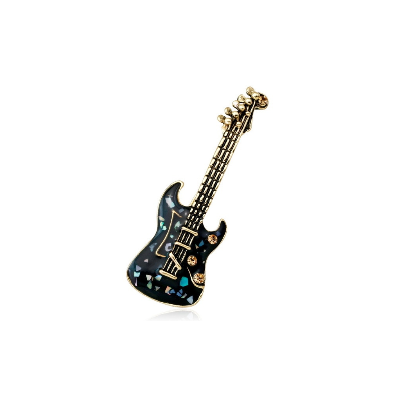 Segė juoda gitara