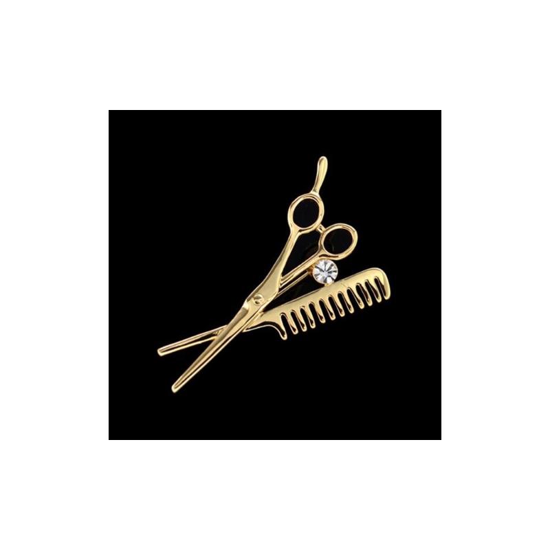 Kirpėjo segė aukso spalvos